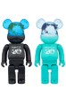BE@RBRICK EARTH 400%(COSMIC BLACK/OCEAN BLUE)