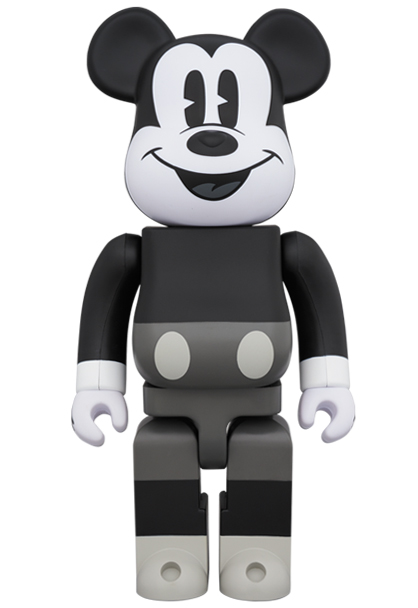 Medicom 400/% Bearbrick ~ Disnry Minnie Mouse Be@rbrick B/&W Version