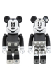 BE@RBRICK MICKEY MOUSE & MINNIE MOUSE 100%(B&W Ver.) 2 PACK