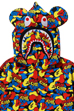MEDICOM TOY CAMO BE@R SHARK FULL ZIP HOODIE