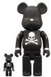 BE@RBRICK mastermind JAPAN BLACK & SILVER  100% & 400%