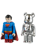 SUPERMAN KUBRICK & MAN OF STEEL BE@RBRICK SET