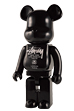 STUSSY WORLD TOUR BE@RBRICK 1000% (BLACK)