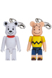BE@RBRICK 50%<br> SNOOPY / CHARLIE BROWN