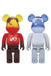BE@RBRICK EARTH (VOLCANO RED / SNOW WHITE) 400%