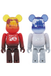 BE@RBRICK EARTH(VOLCANO RED / SNOW WHITE)100%