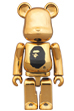 A BATHING APE(R) / NOWHERE 23rd anniv. GOLD BE@RBRICK