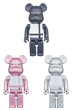 BE@RBRICK MEDICOM TOY PLUS BLACK/PINK/SILVER 400%