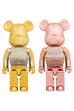 MY FIRST BE@RBRICK GOLD & SILVER Ver./PINK & GOLD Ver. 1000%