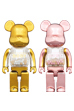 MY FIRST BE@RBRICK GOLD & SILVER Ver./PINK & GOLD Ver. 400%
