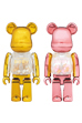 MY FIRST BE@RBRICK GOLD & SILVER Ver./PINK & GOLD Ver. 100%