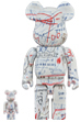 BE@RBRICK JEAN-MICHEL BASQUIAT #2 100% & 400%