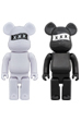 BE@RBRICK GOD SELECTION XXX 400% WHITE/BLACK
