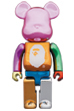 A BATHING APE(R) 25th ANNIV. MULTI COLOR BE@RBRICK 400%