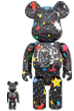 BE@RBRICK BILLIONAIRE BOYS CLUB STARFIELD BLACK 100% & 400%