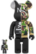 A BATHING APE(R) × NEIGHBORHOOD(R) BE@RBRICK 100% & 400%
