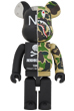 A BATHING APE(R) × NEIGHBORHOOD(R) BE@RBRICK 1000%