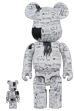 BE@RBRICK JEAN-MICHEL BASQUIAT #3 100% & 400%