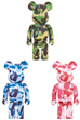 BE@RBRICK ABC CAMO 1000% GREEN/BLUE/PINK