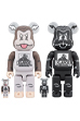 BE@RBRICK XLARGE × D*Face 100% & 400% BROWN/BLACK