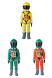 VCD SPACE SUIT YELLOW Ver./GREEN Ver./ GREEN HELMET & ORANGE SUIT Ver.