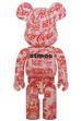BE@RBRICK atmos × Coca-Cola 1000% CLEAR BODY