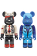 BE@RBRICK ANNA SUI 100% BLACK / BLUE