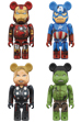 BE@RBRICK THE AVENGERS DAMAGE Ver. 100%