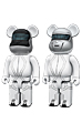 BE@RBRICK 400% DAFT PUNK(TRON LEGACY Ver.)2 PACK