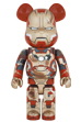 BE@RBRICK IRON MAN MARK XLII(42) <br> DAMAGE Ver. 1000%