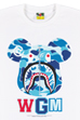 BE@RTEE BAPE(R)-ABC SHARK (WHITE×BLUE)<br>