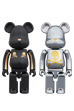 BE@RBRICK 超合金 mastermind JAPAN 2pack GOLD STRIPE & CHROME SILVER