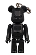 Birthday BE@RBRICK NOIR BLACK CHROME