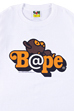 BE@RTEE BAPE(R)-BE@R ON BAPE(R) (WHITE)