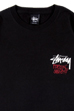 BE@RTEE STUSSY-LION (BLACK)