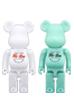 BE@RBRICK Fire-King 400%(WHITE / JADE-ITE)
