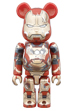 BE@RBRICK IRON MAN MARK XLII(42) <br> DAMAGE Ver. 100%