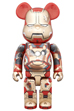 BE@RBRICK IRON MAN MARK XLII(42) <br> DAMAGE Ver. 400%