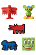 MINI VCD KEITH HARING Barking Dog/Flying Devil/Radiant Baby/Andy Mouse/Three Eyed Smiling Face