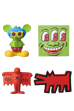 MINI VCD KEITH HARING Andy Mouse/Three Eyed Smiling Face/Flying Devil/Barking Dog